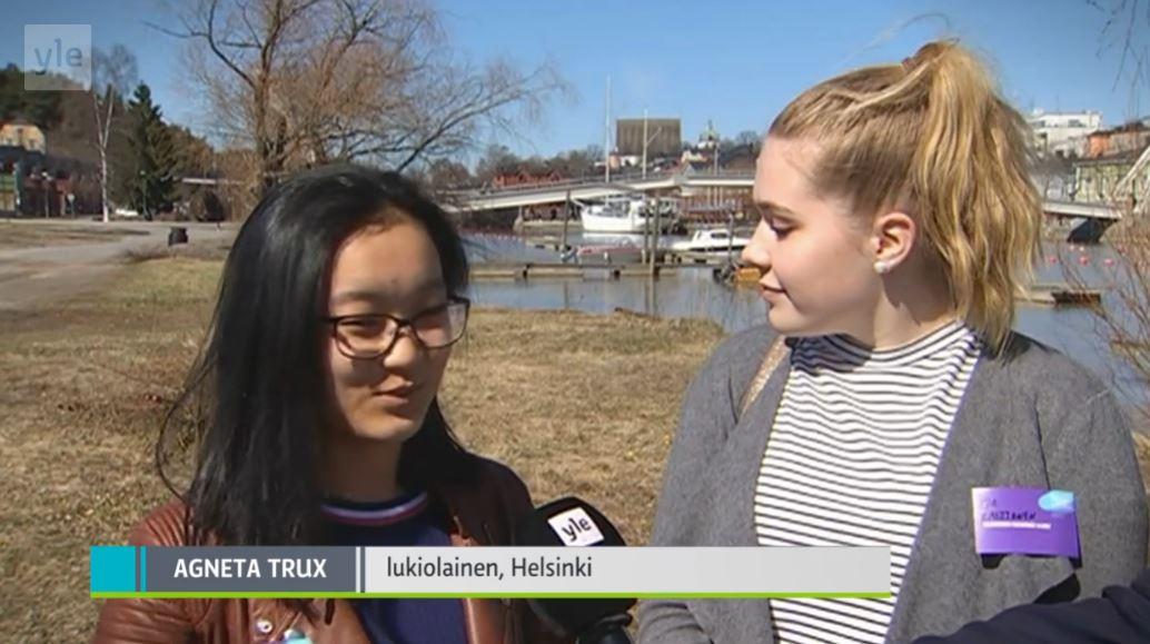 HRSK:n oppilaat haastattelivat pääministeriä