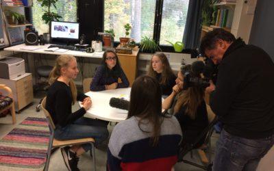 Eurooppalaista tv-reportaasia kuvattiin koululla – Tournage d'un reportage au Lycée