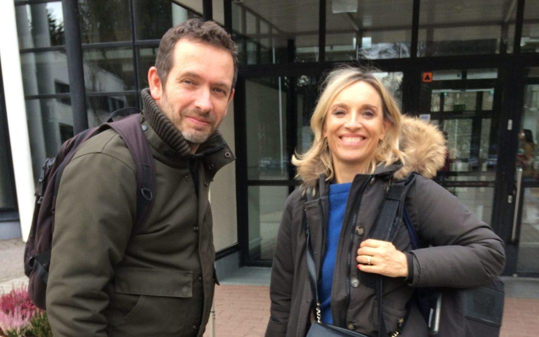 France2 reportterit koululla – Journalistes de France2 au LFF