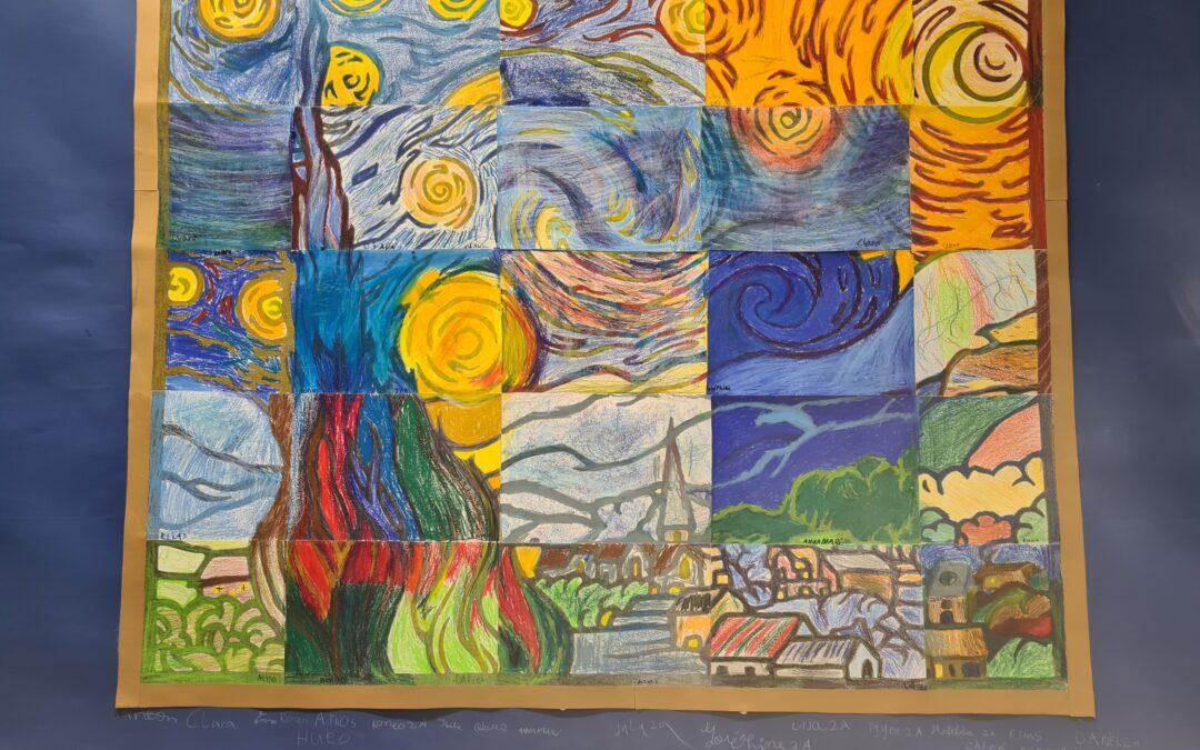 La nuit étoilée de Van Gogh – Travail des 2A