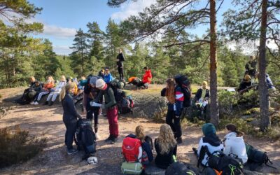Excursion des collégiens à Nuuksio
