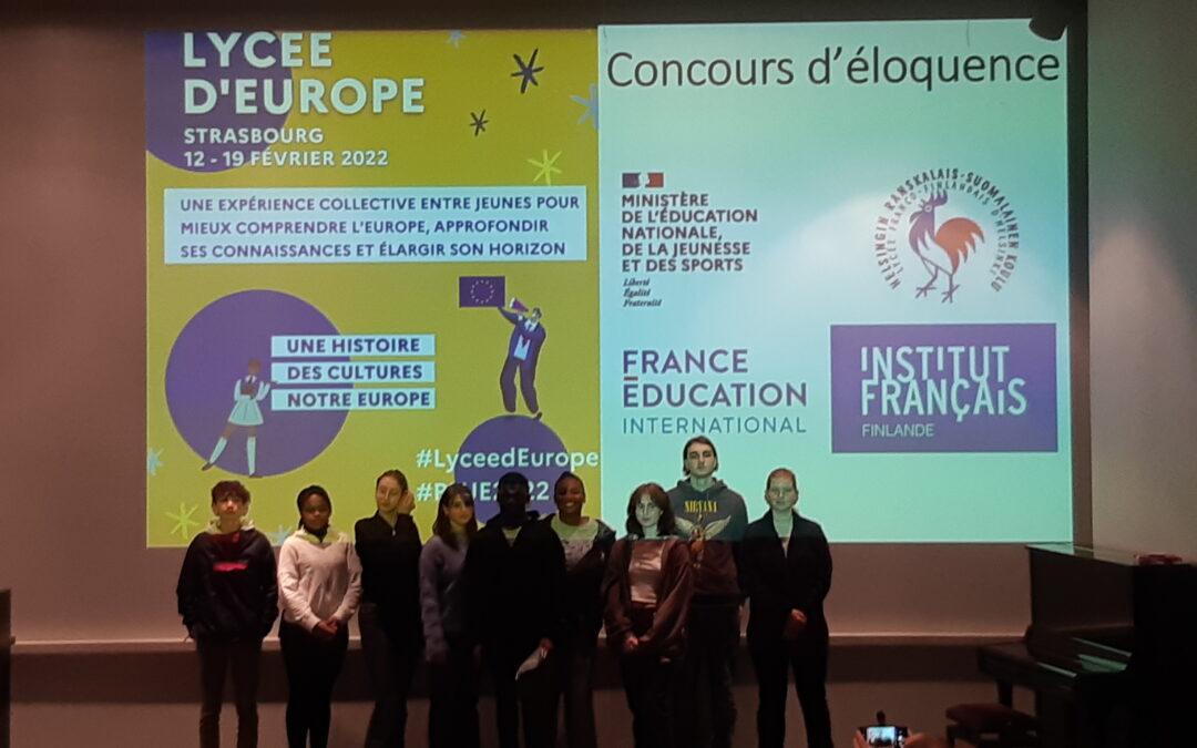 Concours Lycées d'Europe